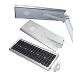 8w 15w integrated solar street light installed in courtyard or villa