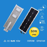 Best price 5W-120W Integrated LED Solar Street Lighting all in one