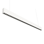 Suspended lens linear luminaires office linear pendant light 1.2M Grille type 45W